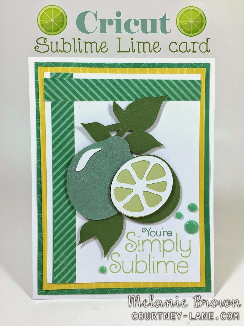 Cricut Sublime Lime card