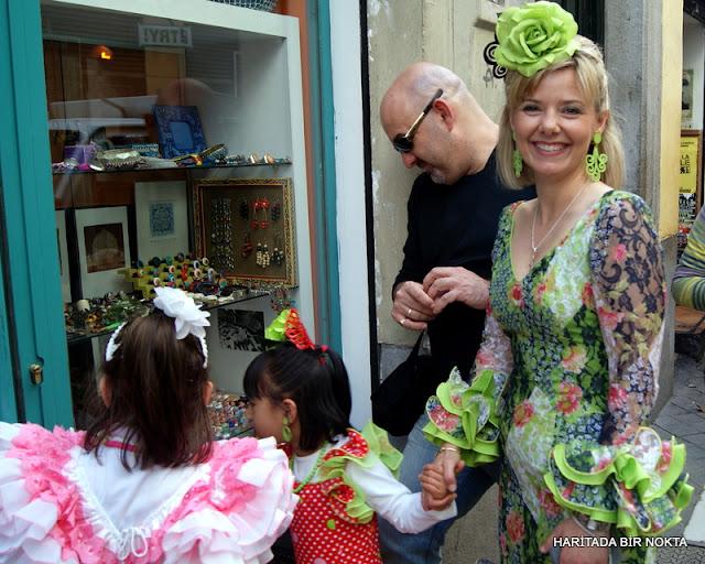 woman with flamenco dress