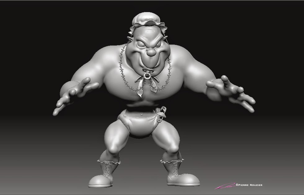 """Wrestiling Ring-A-Lings""-""Junior"" - Character Design & 3D Model ©Pierre Rouzier"