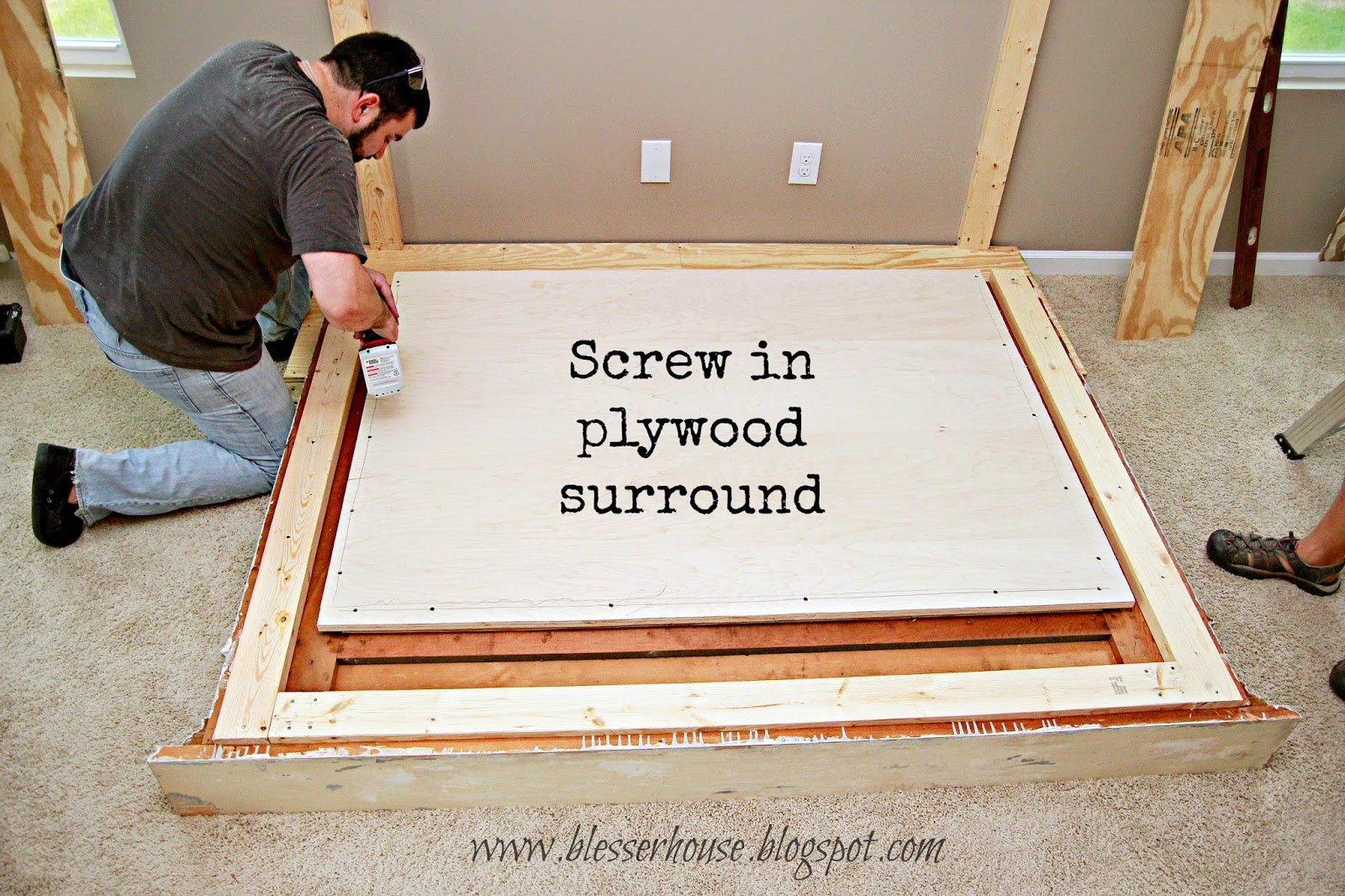 diy faux fireplace center part one blesser house - How To Build A Fireplace Surround