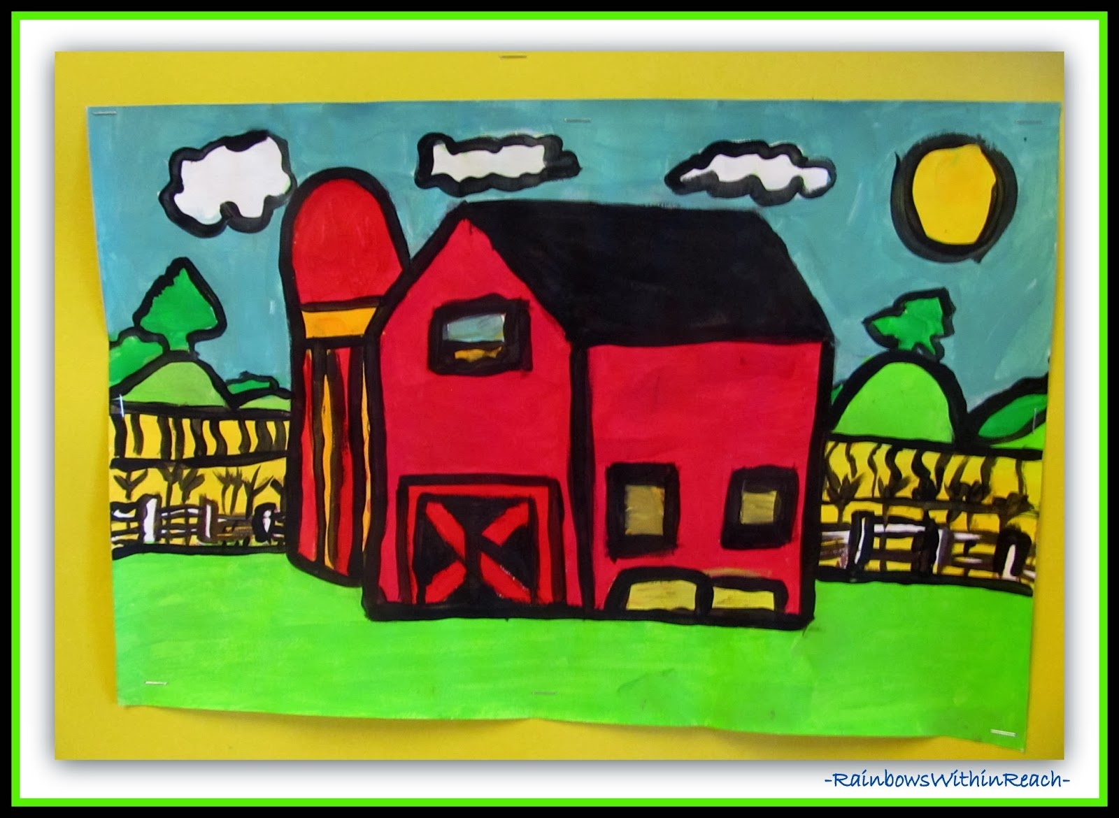 Regional Landscape Painting in Elementary via RainbowsWithinReach