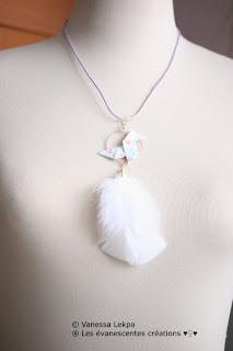 origami bijoux attrape rêves poétiques vanessa lekpa evanescentes fait mains