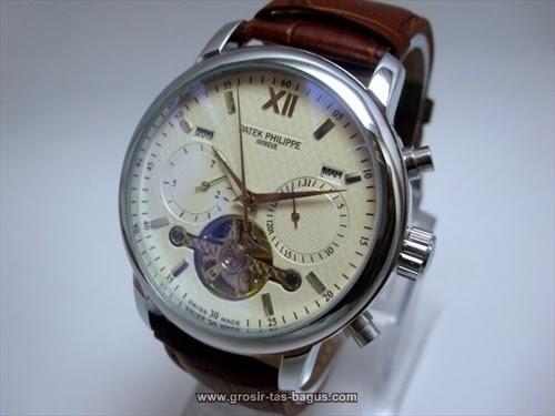 Jam Tangan KW Super Terbaru Murah dan Bagus Patek Philippe 308 White Brown 2