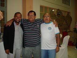 Vavá, José Augusto e Frei Osmar da Silva-Amigos de turma do seminário de Ipuarana, na década de 60.