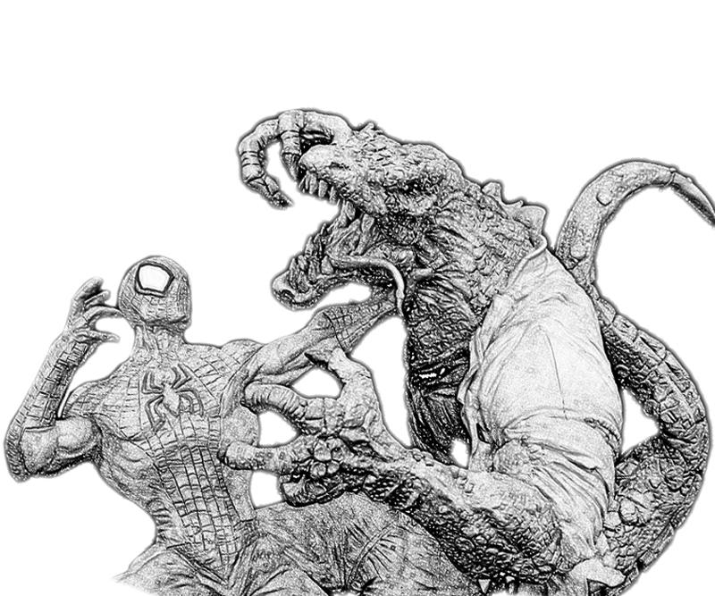 amazing spider man 4 coloring pages - the amazing spider man lizard coloring pages