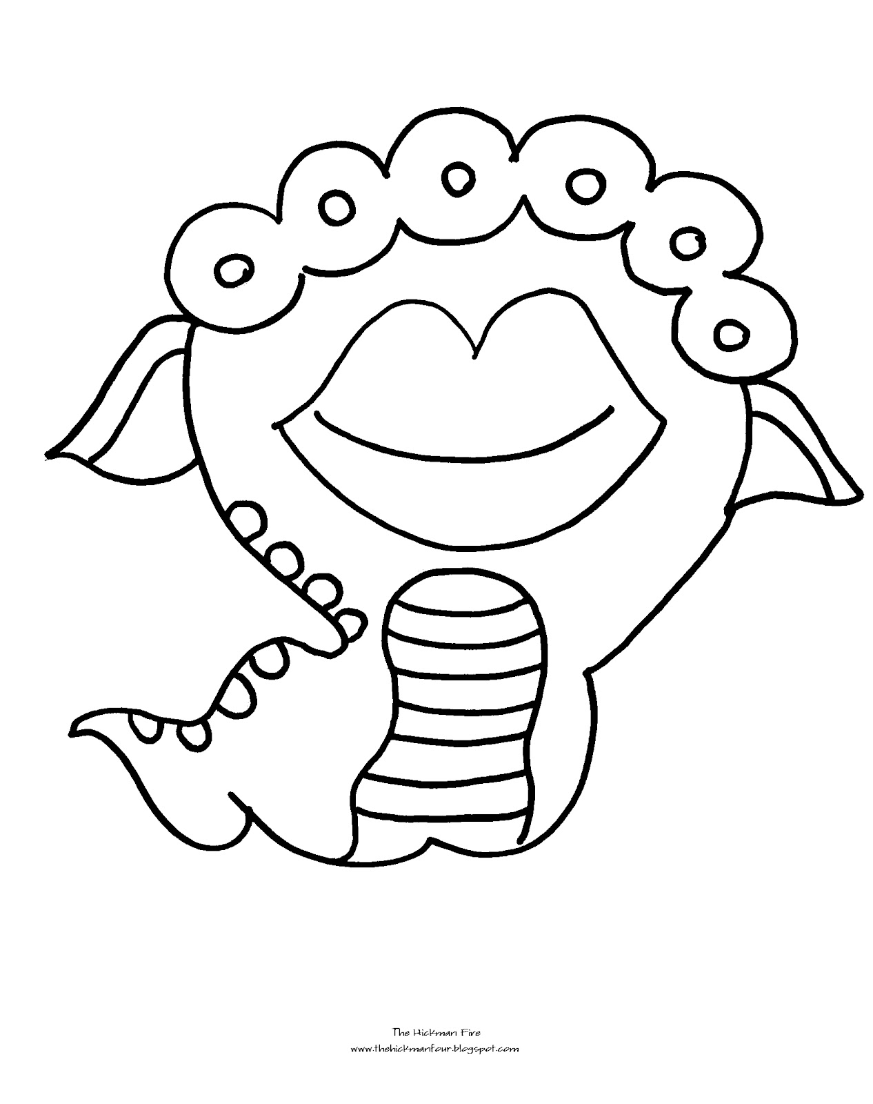 monster coloring pages images - photo#12
