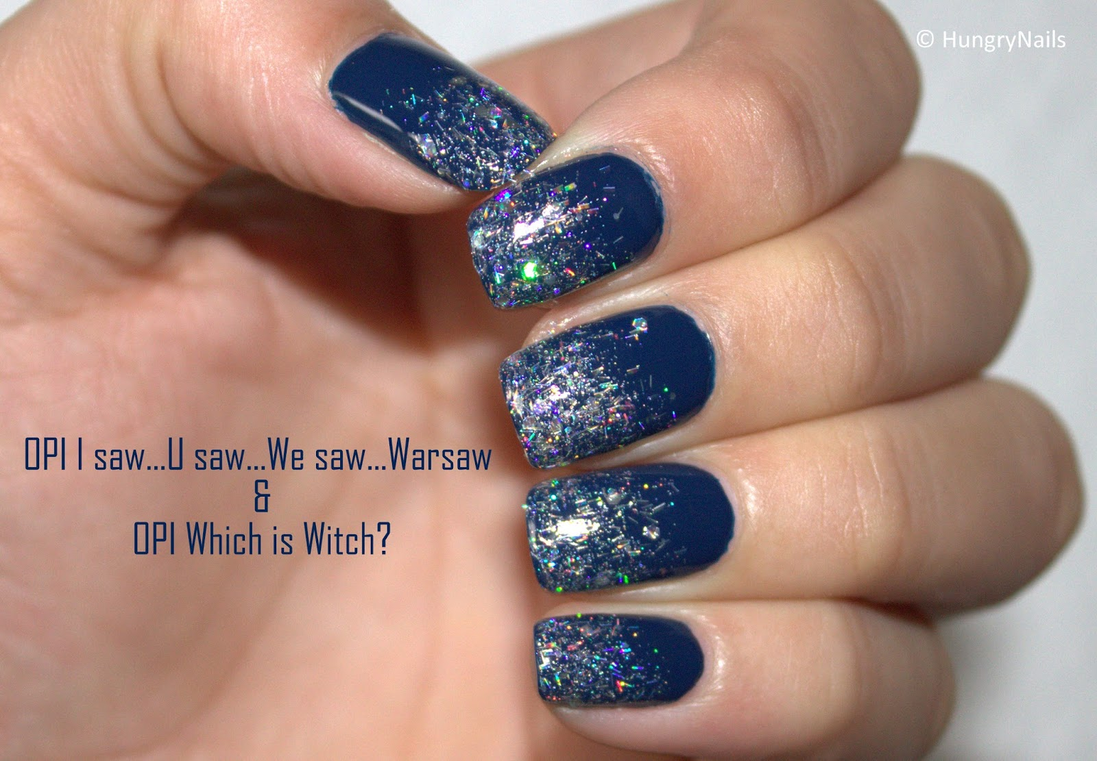 OPI Glitter Gradient zum Blue Friday - HungryNails Blog | Die bunte ...