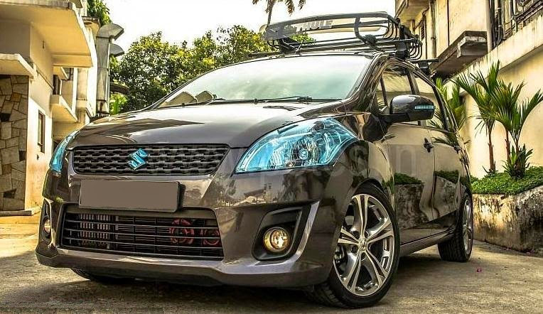 Foto Modifikasi Mobil Suzuki Ertiga Hitam