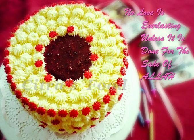 Citra\'s Home Diary: Cheesecake between Red Velvet Cake for our ...