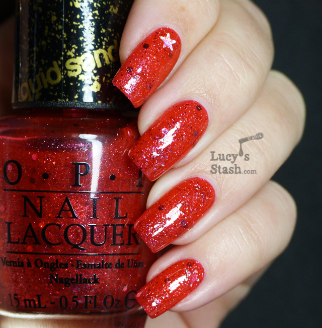 Lucy's Stash - OPI Liquid Sand The Impossible with topcoat