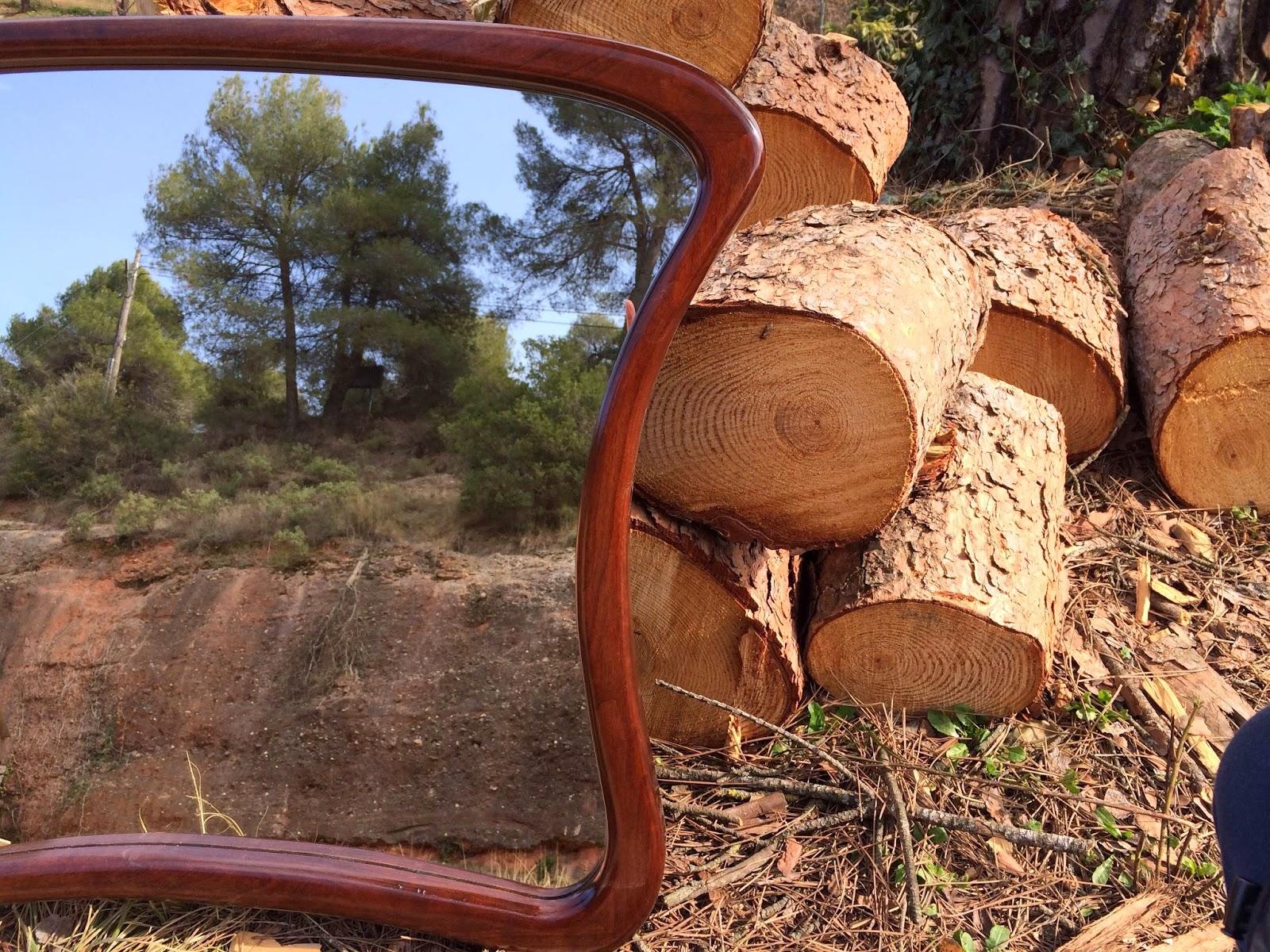 Mi las mobles miralls vintage de fusta de cirerer miralls artesanals - Mobles vintage barcelona ...