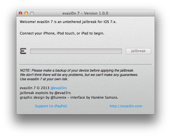Evasi0n7 for iOS 7.0.4 & iOS 7 Jailbreak