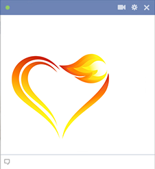 Flaming heart emoticon