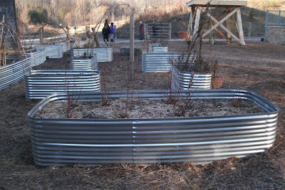 Evergreen Brick Works metal raised beds by garden muses: a Toronto gardening blog
