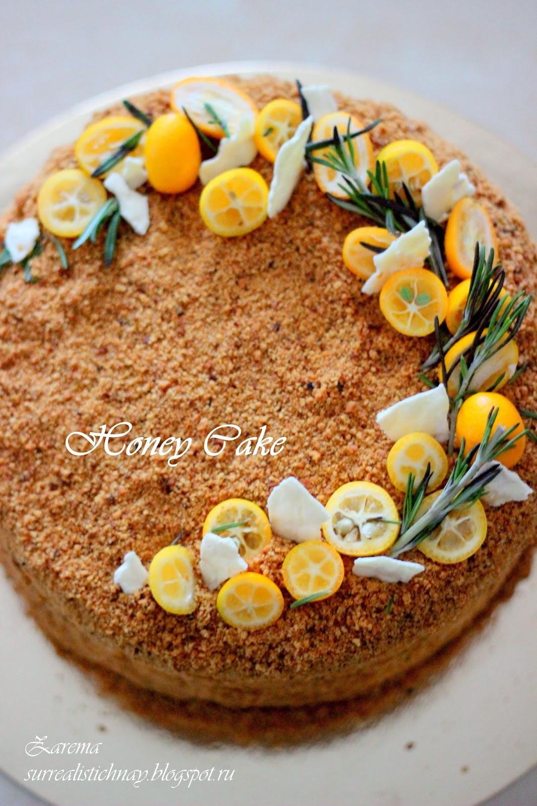 Торт медовик как красиво украсить