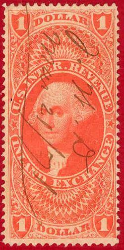 USA Revenue Stamp Inland Exchange