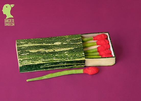 Renkli ve Yaratıcı Yiyeceklerden Oluşan Heykeller