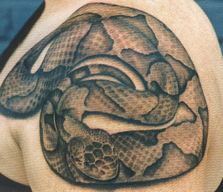 Tattoo de serpentes ferida no ombro