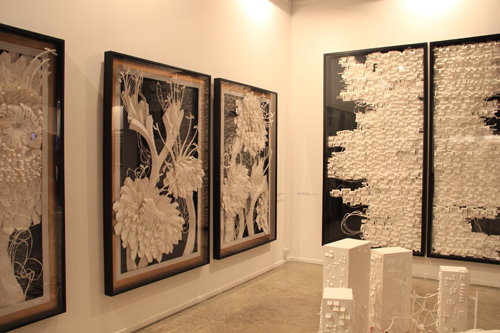 Sachin George Sebastian's Paper Art by Exhibit320 at Dubai Art Fair2013