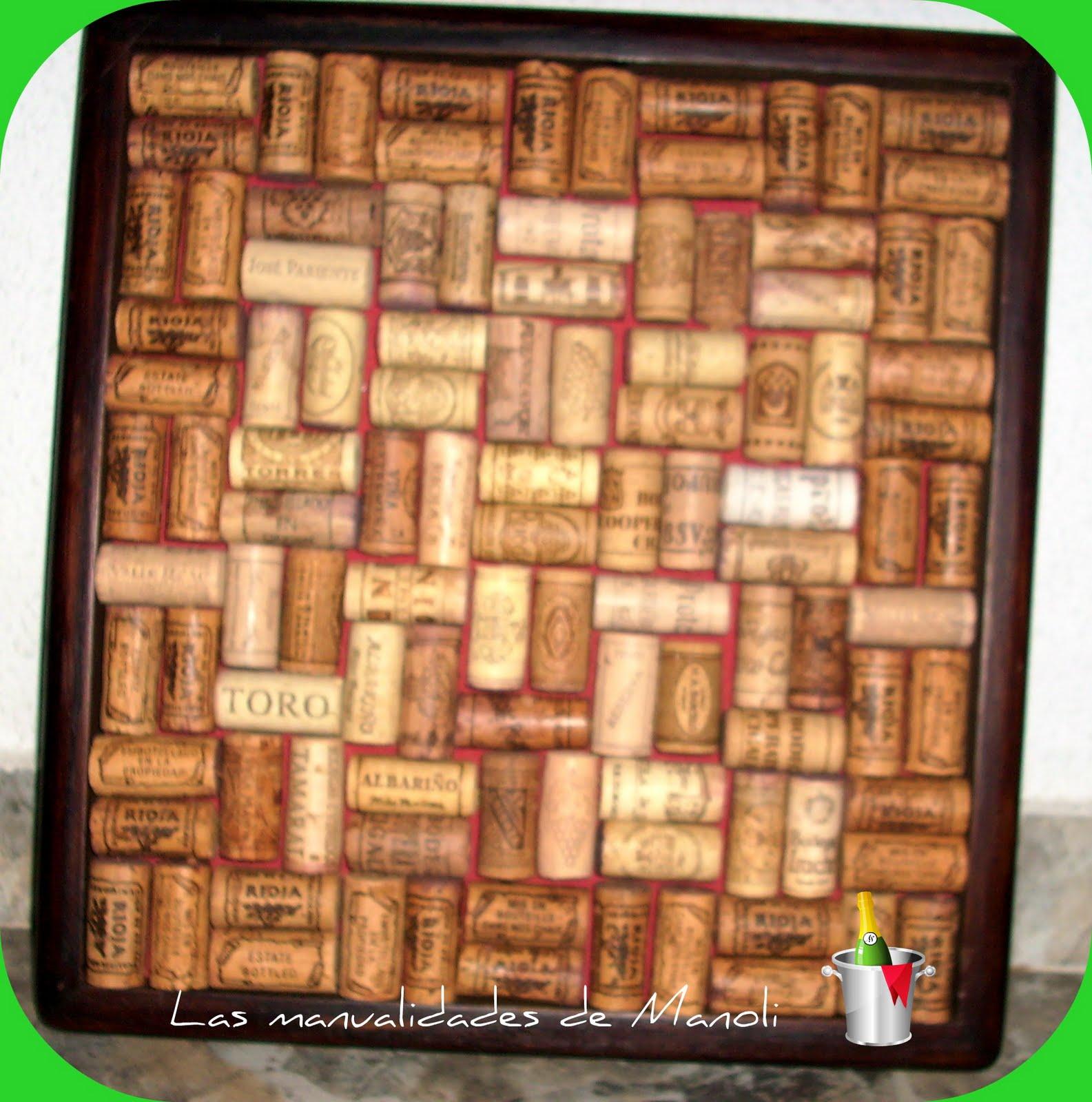 Las manualidades de manoli cuadro de corchos for Cuadros con corchos