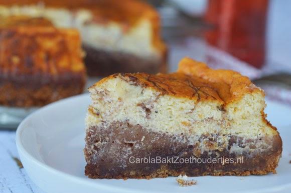 Cheesecake met dulce de leche chocolade