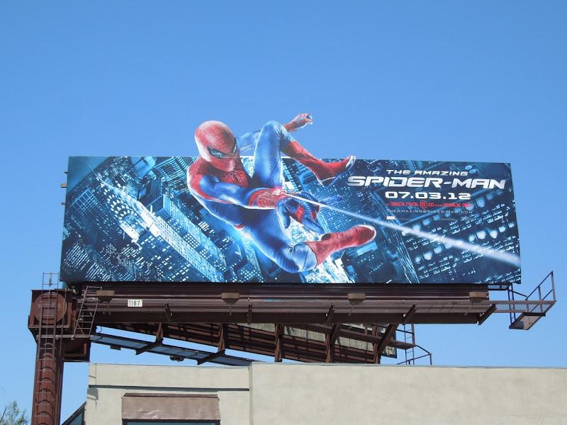 Amazing Spiderman movie billboard
