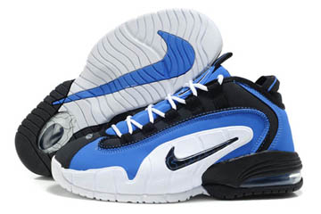 Nike Air Max Penny Hardaway 1 BlueBlackWhite Basketball Shoes On