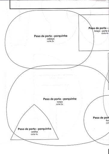 Ateliê Elaine Rodrigues : Moldes de peso de porta super fofos!!!
