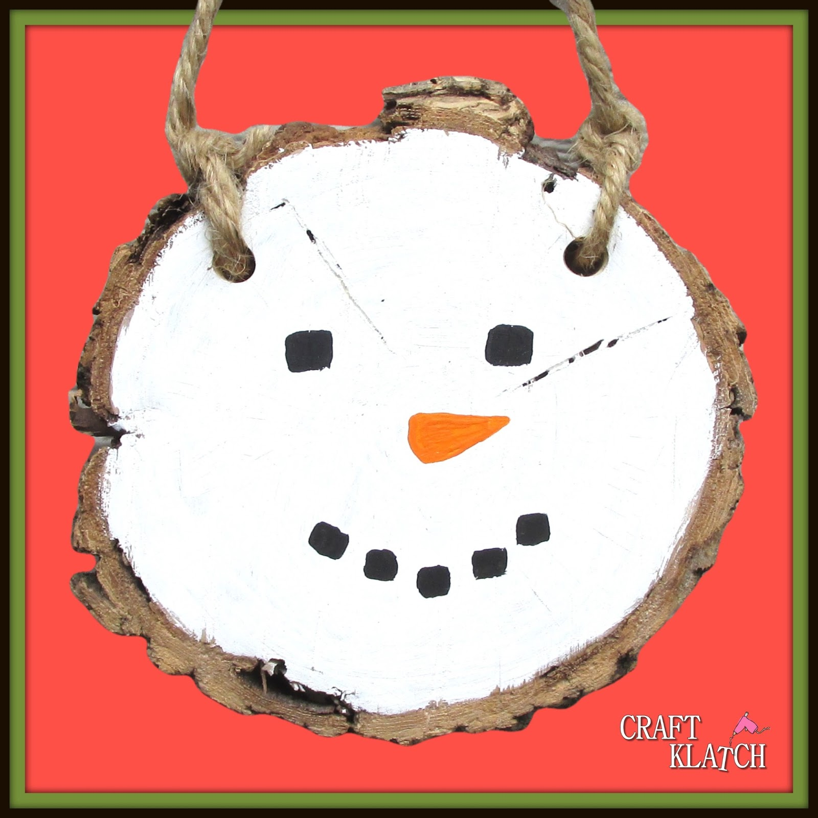 Craft Klatch ®: Easy Painted Snowman Plaque DIY