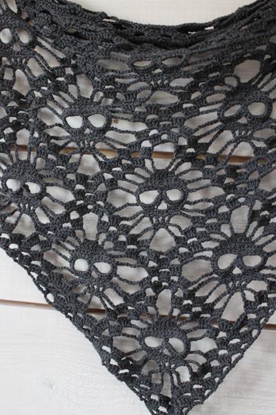 Crochet Pattern For Skull Shawl : kungen & majkis: Virkad d?skallesjal. Med m?nster ...