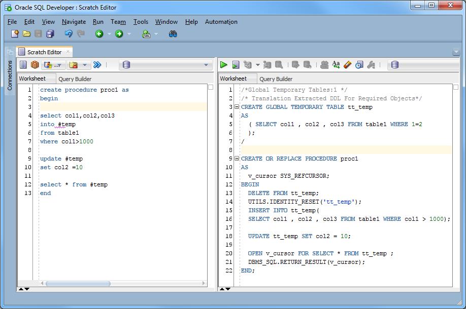 T sql v pl sql - Create table in oracle sql developer ...