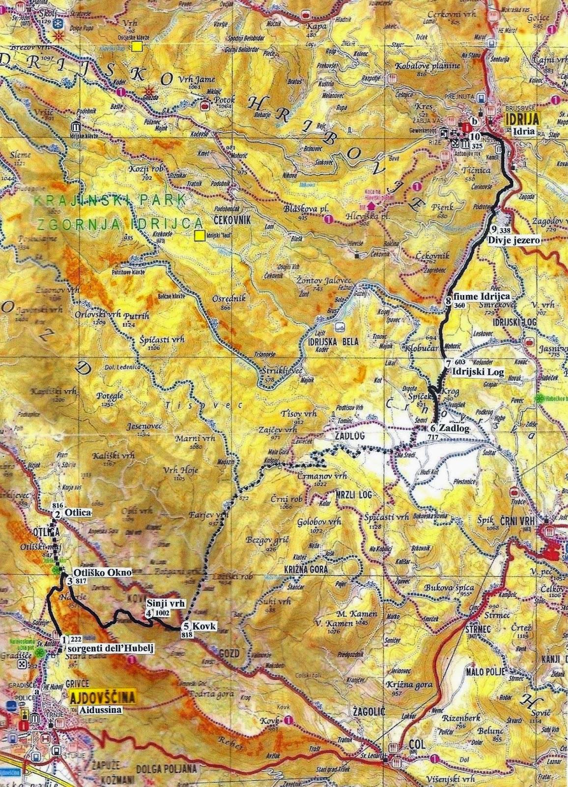 Descrizioni delle escursioni nei dintorni di trieste for Programma della mappa della casa