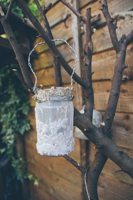 How to make vintage lace candle lanterns