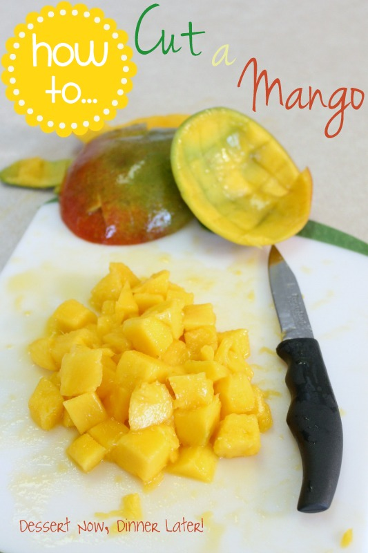 How to cut a mango dessert now dinner later i love mangoes in fruit salsas salads to snack on they are the perfect summer fruit today i am sharing some knife skills education on how to cut a ccuart Gallery