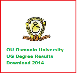 Osmania University (OU) Degree BA, B.Com, B.Sc, BCA, B.A Regular and Supplementary exam results download