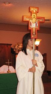 Hannah serving as our Crucifer