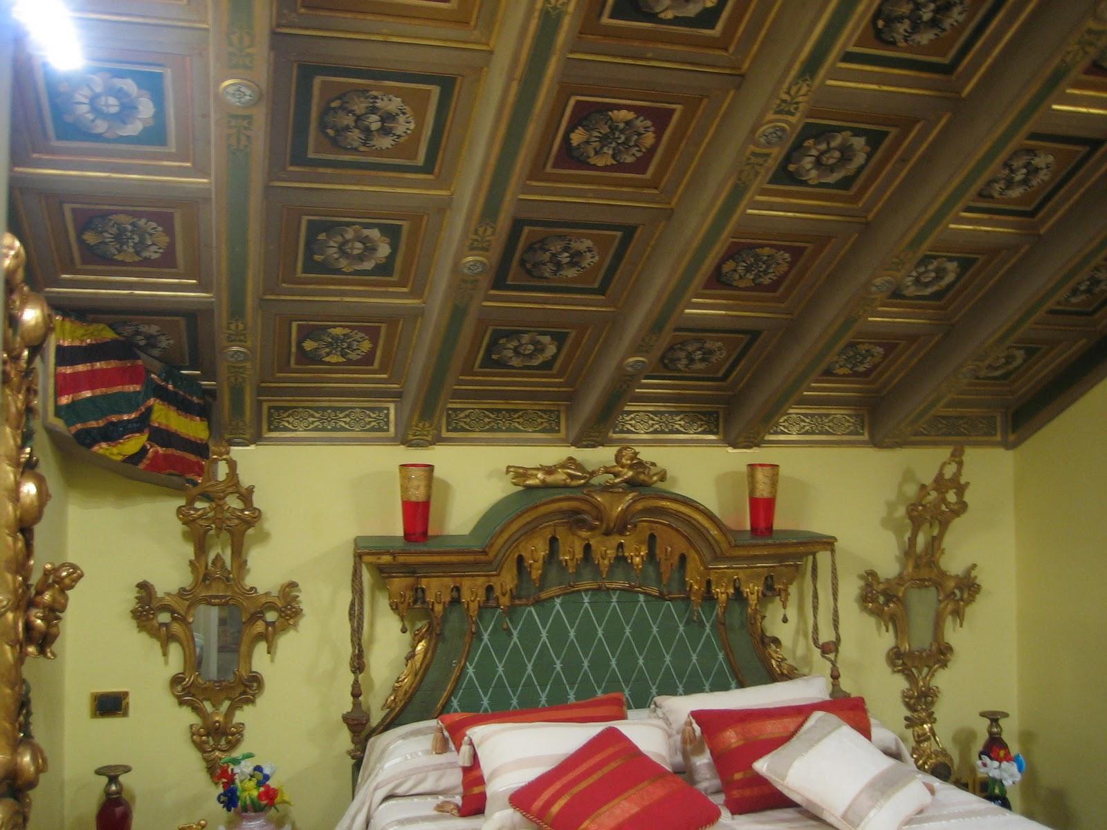 Via riviera 19: trasformazione di un soffitto : i cassettoni