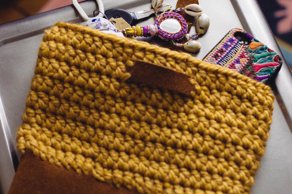 Crochet Yarn Bag Pattern : always rooney: Learn To Crochet: Yarn and Leather Bag Pattern