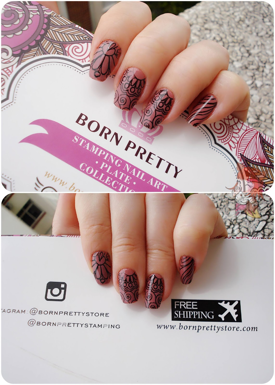 Born Pretty Store :: Placa para Unhas BPL002
