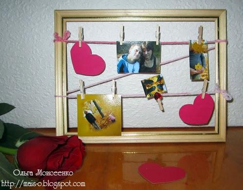 декор рамки для праздника, креативная рамка с сердечками