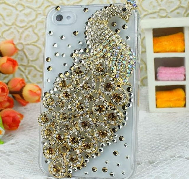 Piecock Crystal Phone Case Cover
