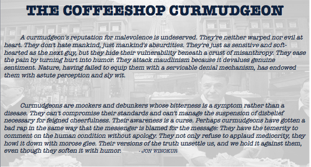 The Coffeeshop Curmudgeon