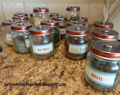 DIY Hanging Spice Rack