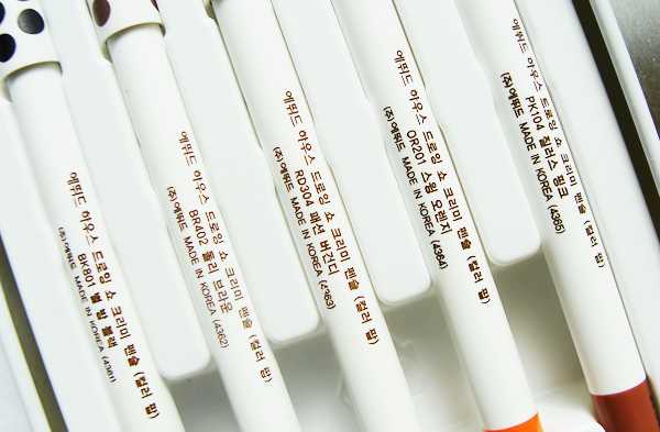 Etude House Color Pop Drawing Show Creamy Pencil Set Review