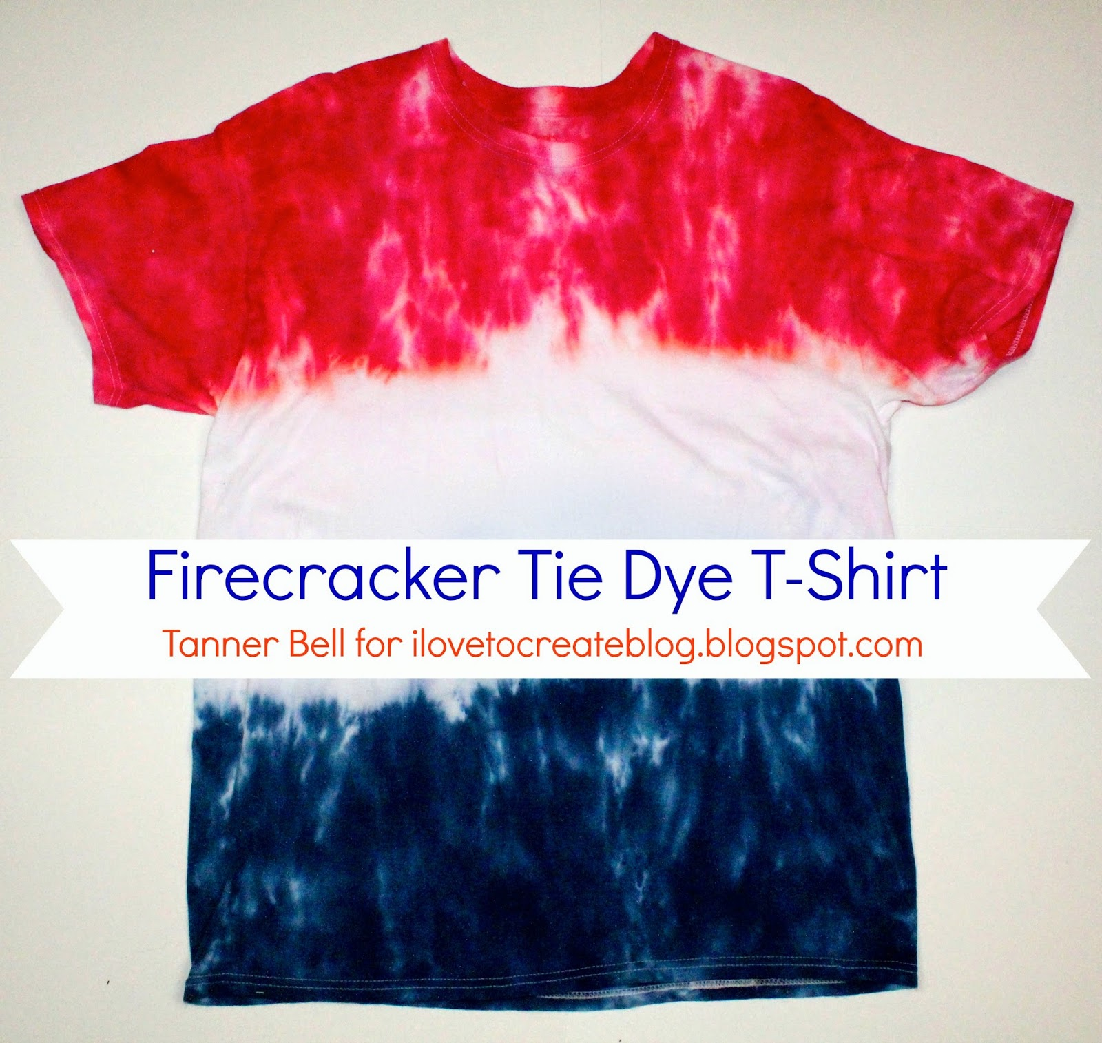 Firecracker Tie Dye T Shirt Ilovetocreate