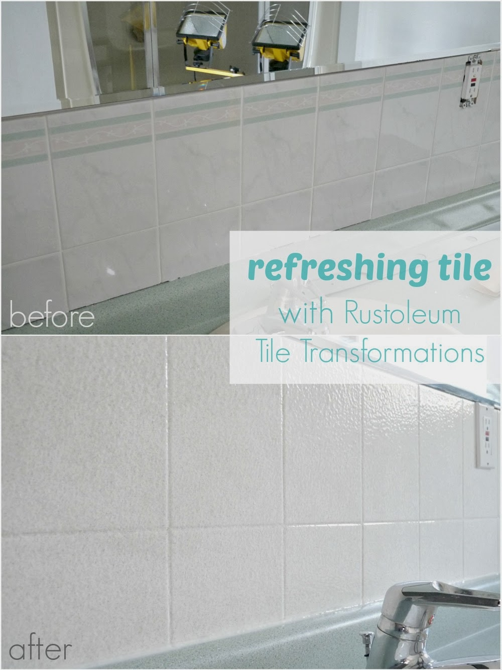Painting Bathroom Tile Board how to paint over dated ceramic tile | dans le lakehouse