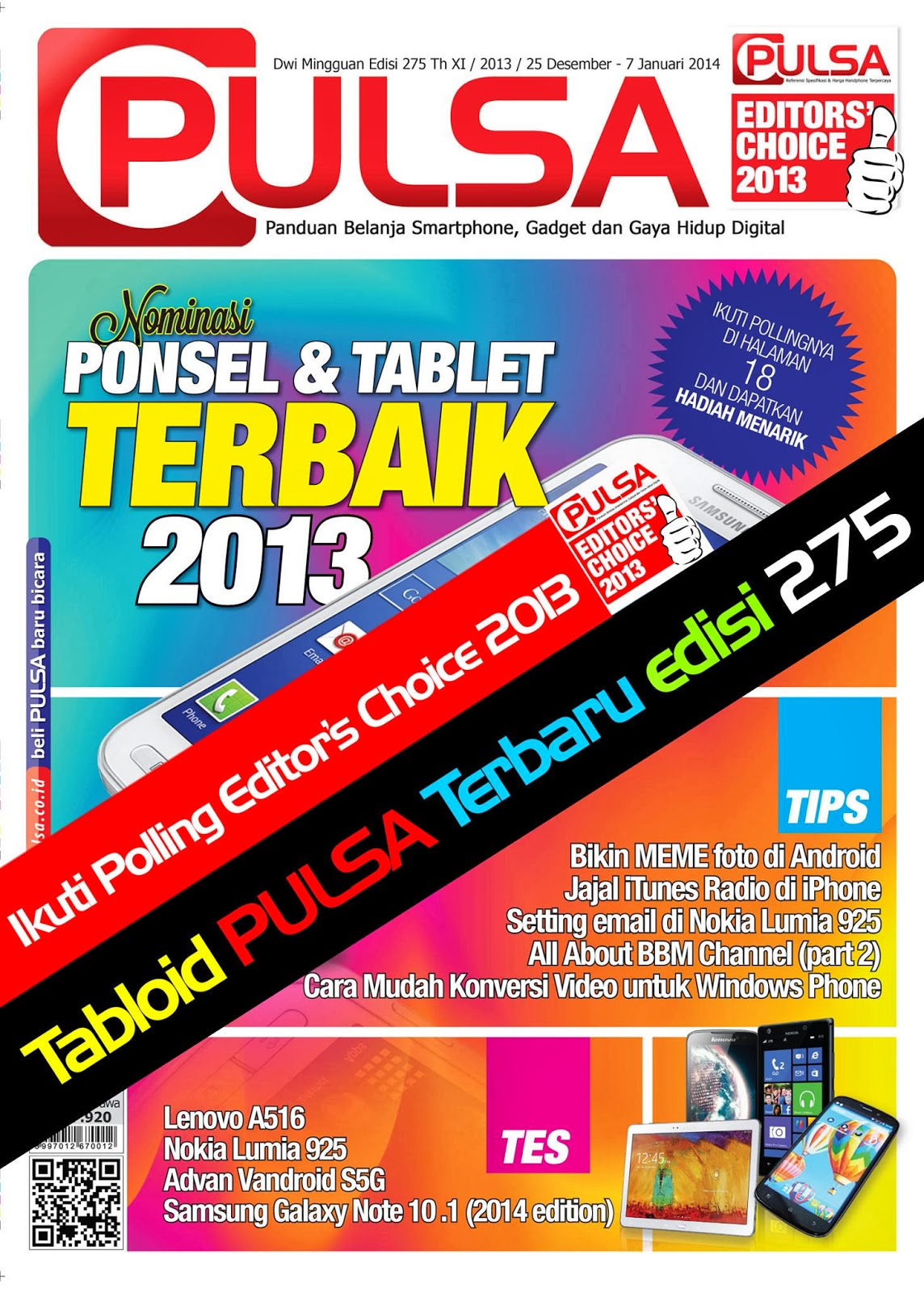 Tabloid Pulsa Edisi 275 | 25 Desember 2013 - 07 Januari 2014