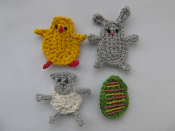 http://www.cuteandkaboodle.com/patterns/easter-appliques/