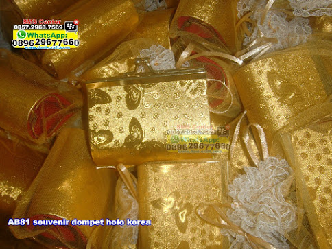 souvenir dompet holo korea grosir