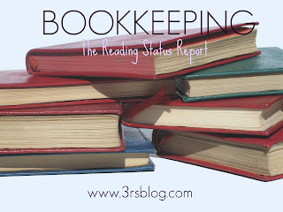 """Bookkeeping: Reading Status Report"" button www.3rsblog.com"